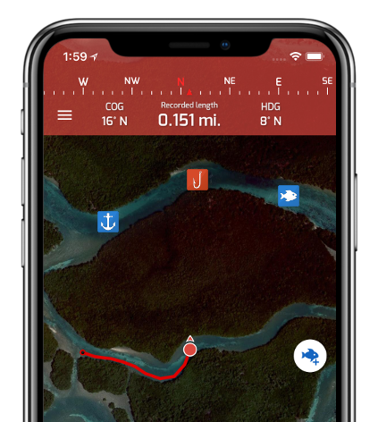 Fishing Points Android & iPhone app - Fishing forecast & GPS